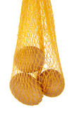 Yellow net with three eggs — Foto de Stock