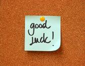 Good luck message — Stock Photo