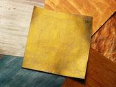 Gold sticker — Stock Photo