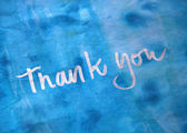 Thank you message — Stock Photo