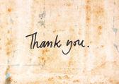 Thank you mesage — Stock Photo