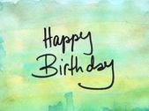 Happy birthday message — Stock Photo