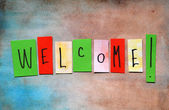 Welcome message — Stock Photo