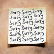 Stock Photo: Sorry note