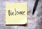 Mensaje de bienvenida — Foto de Stock