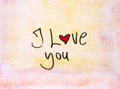 Kocham cię — Zdjęcie stockowe
