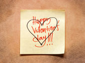 Valentines day note — Foto Stock