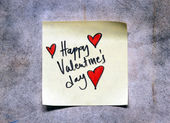 Valentines day note — Stockfoto