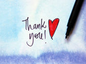 Thank you on blue — Foto Stock