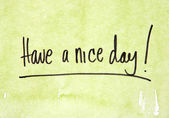 Have a nice day on green — Foto de Stock