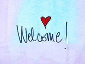 Blue Welcome message — Foto de Stock