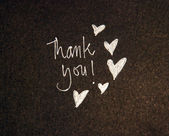 Thank you with hearts — Stock Photo