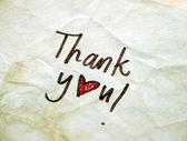 Vintage Thank you — Zdjęcie stockowe
