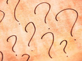 Question mark — Stock Photo