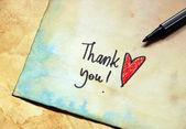 Vintage Thank you — Stock Photo