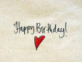 Happy birthday message — Стоковое фото