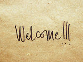 Welcome on paper — Stock Photo