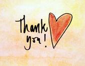 Thank you massage — Stock Photo