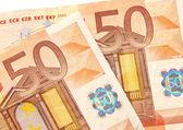 Notas de 50 euro — Fotografia Stock