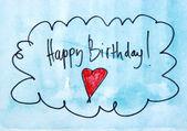 Mutlu doğum günü mesajı — Stok fotoğraf