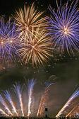 Magic fireworks — Stock Photo