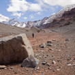 Trekking en el Parque Nacional Aconcagua - Stock Photo
