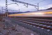 A high speed train — Stock Photo