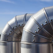 Silvered Pipeline. — Stock Photo