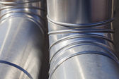 Industrial heating ducts — Stock Photo
