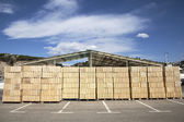 A Shed in a commercial dock — Stock Photo