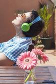 Muzyki na słońce — Zdjęcie stockowe