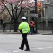 Stock Photo: Traffic Authority Officer at 2013 Vancouver Sun Run
