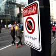 Stock Photo: No Stopping Sign at 2013 Vancouver Sun Run