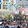 2013 Vancouver Sun Run Mass Start with Boston Jersey — Stock Photo