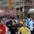 Vancouver Sun Run Participants - Yellow Group — Stock Photo
