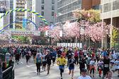 Vancouver sun kör startlinjen — Stockfoto