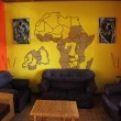 AfricThemed Living Room with Mural — ストック写真 #24693213