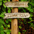 Garden Sign-This Way, That Way — Stock Photo