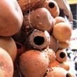 Hollow Gourds Hanging in a Market — Stock Photo #30010961