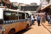 Kampala Streets Taxi Lineup — Stock Photo