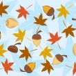 Acorn vector seamless pattern. — Stock Vector