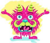 Illustration vector of cute little monster — Stock Vector