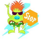 Illustration vector of cute little monster — Vector de stock