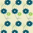 Illustration vector or seamless spring cute tiny vintage floral ,flower pattern background. — Stock vektor