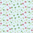 Illustration vector or seamless spring cute tiny vintage floral ,flower pattern background. — Stok Vektör