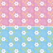 Illustration vector or seamless spring cute tiny vintage floral ,flower pattern background. — ベクター素材ストック