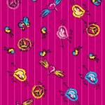 Peace & Love Sketchy Notebook Doodles Design Elements on Lined Sketchbook Paper Background- Vector Illustration — Stock Vector