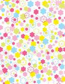 Vector ilustración o primavera inconsútil lindo pequeño vintage floral, fondo de flores. — Vector de stock