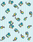 Peace & love doodles esboçado do caderno elementos de design em papel sketchbook forrado background- ilustração vetorial — Vetorial Stock