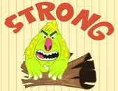 Illustration vector of cute little monster — Vecteur